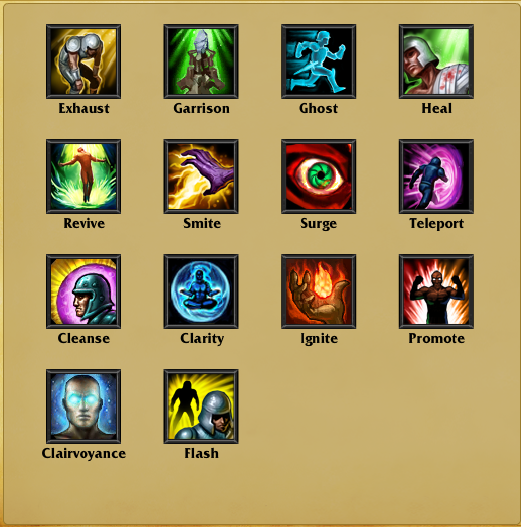 [MMOBA] League of Legends (LoL) Summoner-spells